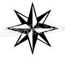 Nautical Star 3D Decal Sticker