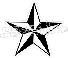 Nautical Star 2 Decal Sticker
