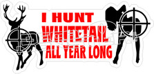 Hunt White Tail All Year Decal Sticker