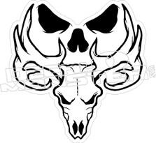 Bone Collector Skull 3 Decal Sticker