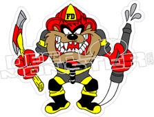 Taz Fire Department Decal Sticker