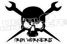 Ironworkers Skull Decal Sticker