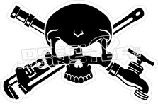 Plumber Skull Cross Bones Decal Sticker