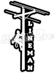Lineman 1 Decal Sticker