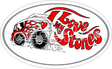 I Love My Stones Decal Sticker