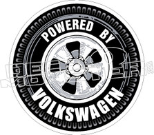 Powered By Volkswagen Decal Sticker