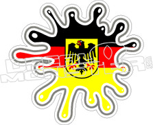 Germany Flag Splat Decal Sticker