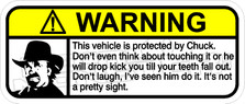 Chuck Norris Warning Decal Sticker