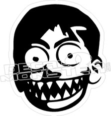Evil Smile Kid Decal Sticker
