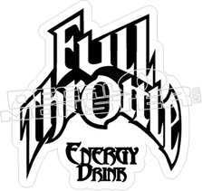 Full Throttle Energy Decal Sticker