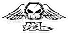No Fear Flying Skull Decal Sticker