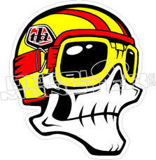 Troy Lee Helmet Skull Decal Sticker
