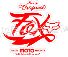 Fox Moto Decal Sticker
