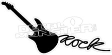 Rock Guitar Decal Sticker