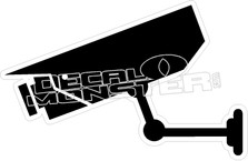 Surveillance Camera Decal Sticker