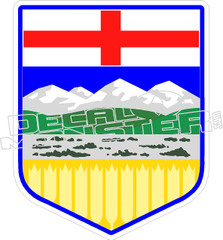 Alberta Crest 2 Decal Sticker
