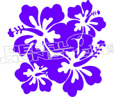 Hibiscus 51 Decal Sticker