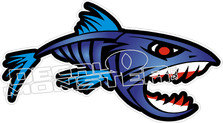 Fish No Fear Decal Sticker
