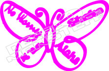 Butterfly 52 Decal Sticker