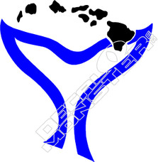 Whale Tail Hawaii Decal Sticker