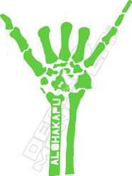 Hawaii Skeleton Hand Decal Sticker