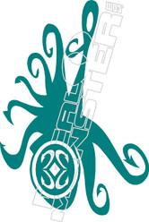 Octopus 52 Decal Sticker