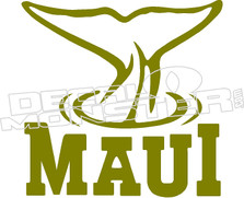 Maui Whale Tail Decal Sticker