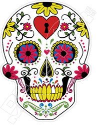 Sugar Skull Decal Sticker