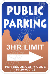Sedona Parking Decal Sticker