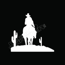 Cowboy Cactus Arizona Decal Sticker
