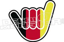 German Flag Hang Loose Decal Sticker