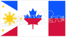 Philippines Canada Flag Decal Sticker