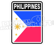 Philippines 51 Decal Sticker
