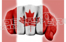 Canada Flag Fist Pound Decal Sticker