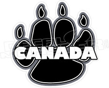 Canada Bear Paw Decal Sticker