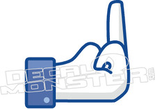 Facebook Like Middle Finger Decal Sticker