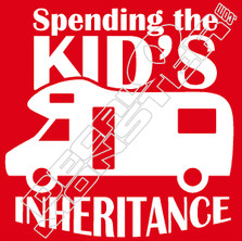 Spending Kids Inheritance Decal Sticker