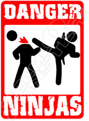 Danger Ninjas Decal Sticker