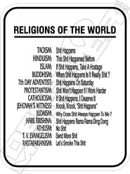Religions Of The World Decal Sticker