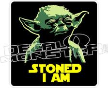 Yoda Stoned I Am Decal Sticker