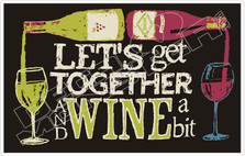 Together Wine A Bit Decal Sticker