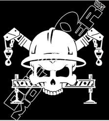 Crane Skull Industry Decal Sticker