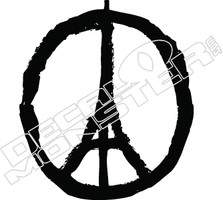 Paris Peace Decal Sticker