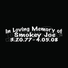 In Loving Memory 56 Decal Sticker