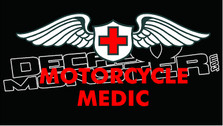 Motorcycle Medic Decal Sticker