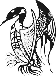 Loon Silhouette Decal Sticker
