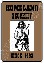 Homeland Security Native Decal Sticker