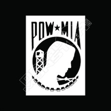 POW MIA 51 Decal Sticker