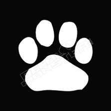 Dog Paw 54 Decal Sticker
