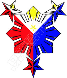 Philippines 53 Decal Sticker